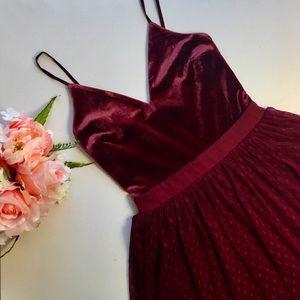 Express Dresses - Express Velvet Bodice Tulle Skirt Dress